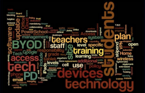 Our DTC brainstormed and developed our District 2 & 5 year technology goals.